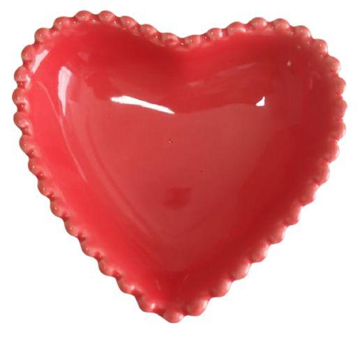 Coração Cerâmica Pequeno Vermelho 9,3 x 9,2