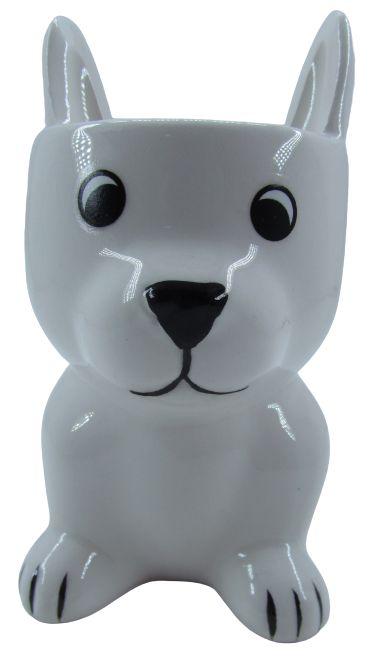 Cachorro Branco Vaso FR202030