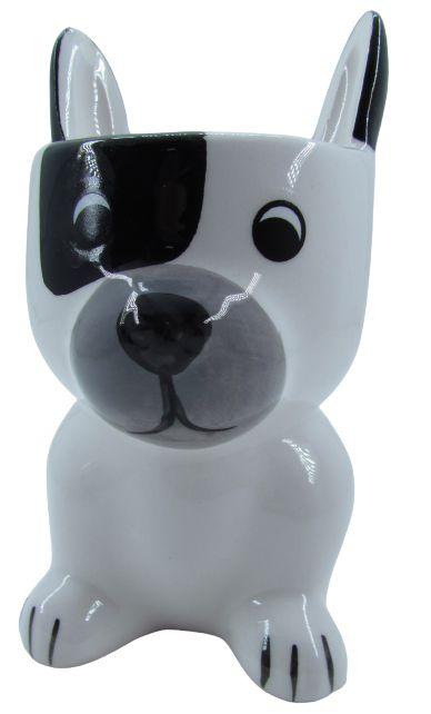 Cachorro Branco/Preto Vaso FR202030