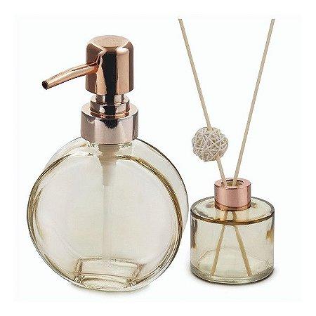 Kit Dispenser e Recipiente de Aromas em Vidro Âmbar VD20146