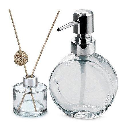 Kit Dispenser e Recipiente de Aromas em Vidro Clear VD20148