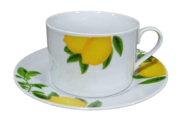 Xícara Chá 220ML C/ Pires Lemon