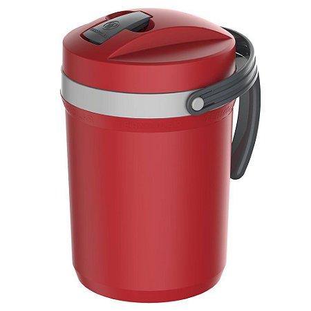 Garrafa Térmica Flip Top Vermelha 2,5L