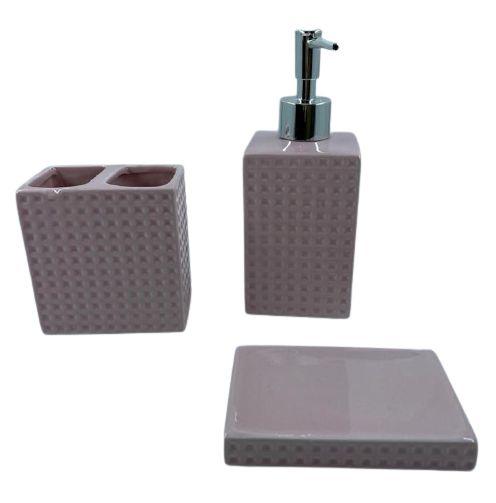 Kit de Banheiro 3 Peças 395 - Cores Sortidas
