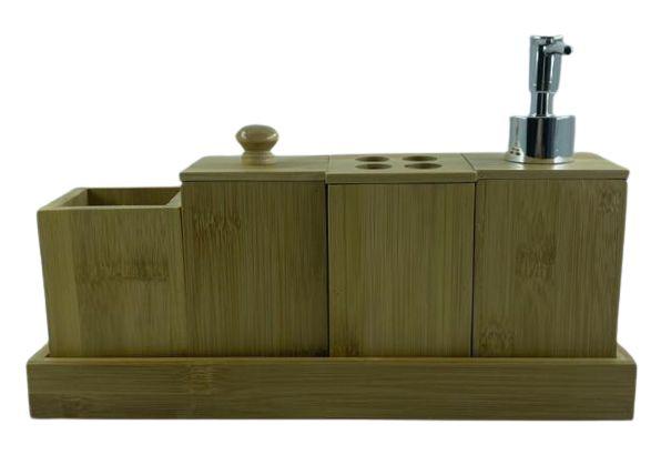 Kit P/ Banheiro 5 Peças Bambu BM1505