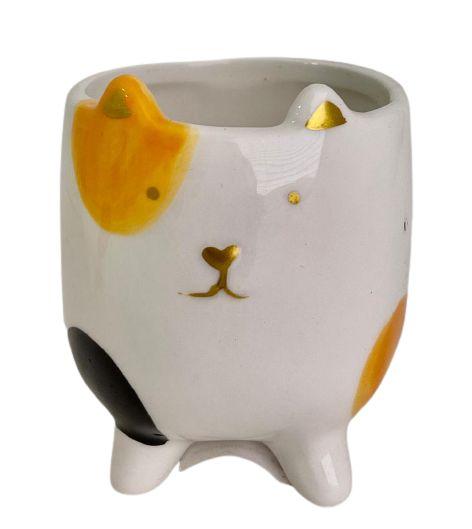 Vaso Cerâmica Cat CK5051 Laranja