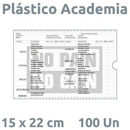 PLÁSTICO ACADEMIA 15X22 CM - 100 UN