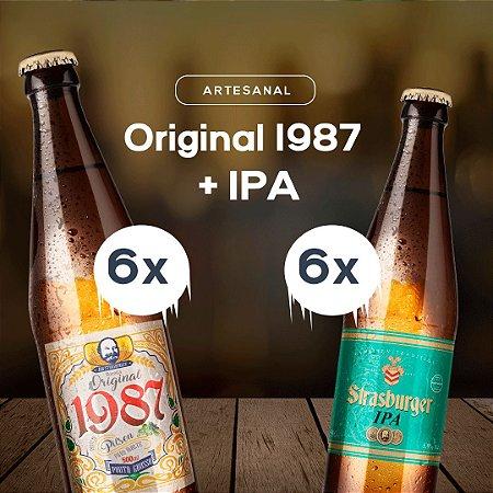Cerveja artesanal kit 12/un. 6 Original 1987 + 6 IPA 500ml