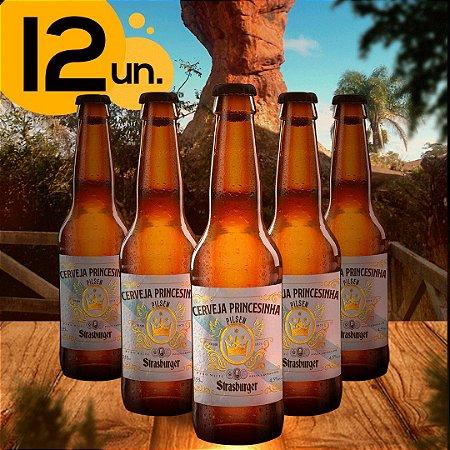Cerveja artesanal kit 12/un - Princesinha Pilsen 355ml