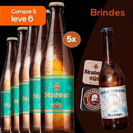 Cerveja artesanal kit 5/un - IPA 500ml + Grátis 1 Princesinha Pilsen 355ml