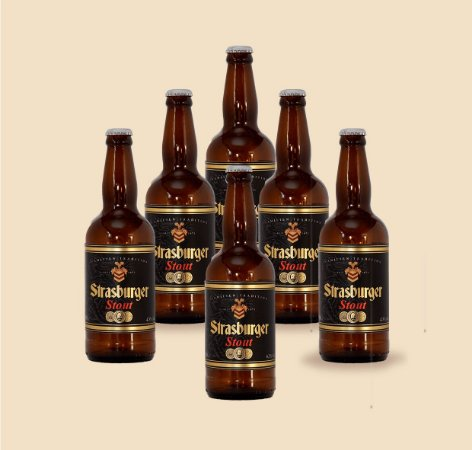 Cerveja artesanal kit Stras 12 - 6/un Stout 500ml - Strasburger