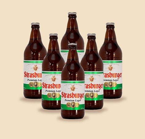Cerveja artesanal kit Stras 14 - 6/un Premium Lager 500ml - Strasburger