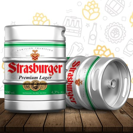 Barril de cerveja artesanal Premium Lager - Strasburger