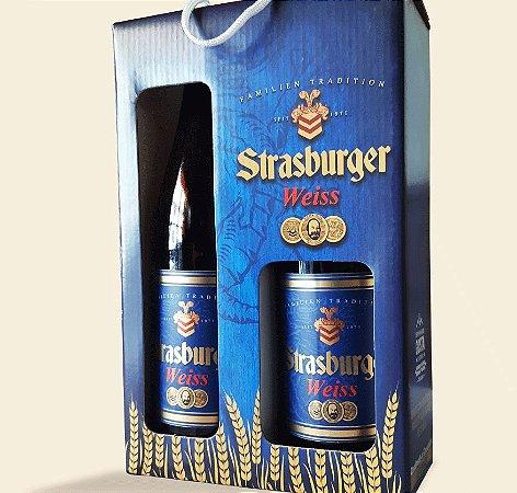Cerveja artesanal kit Stras 11 - 2/un Cerveja Weiss 500ml - Strasburger