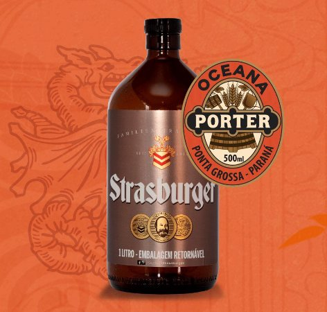 Growler de Cerveja artesanal - Oceana Porter - Strasburger