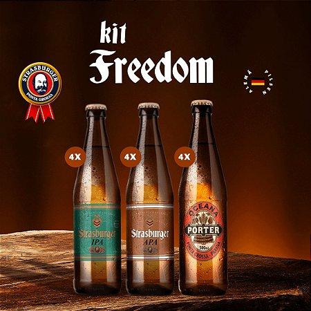 Cerveja artesanal - Kit Freedom 12/un - APA + IPA + Ocean Porter, 500ml