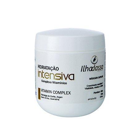 Máscara Hidratação Intensiva, Complexo Vitamínico 500g - Ilhadassa