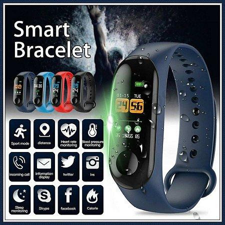 Smart band M3 Smart Bluetooth Frequência Cardíaca Pressão Sanguínea Mi Band 3 Killer