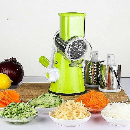 Cortador e Fatiador Legumes/Frutas com 3 Laminas