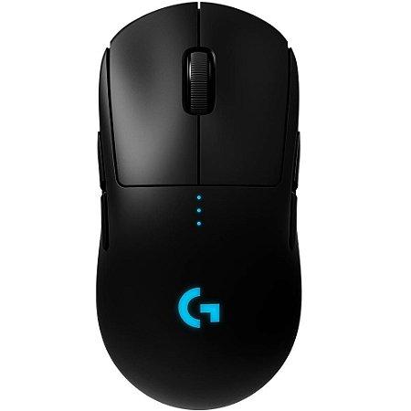Mouse Gamer Sem Fio Logitech G PRO Wireless Lightspeed, RGB, Lightsync, Ambidestro, 6 Botóes, Sensor HERO 16K - Compatível com Powerplay - 910-005271