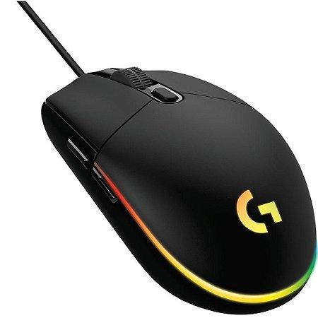 Mouse Gamer Logitech G203 RGB Lightsync, 6 Botões, 8000 DPI, Preto - 910-005793