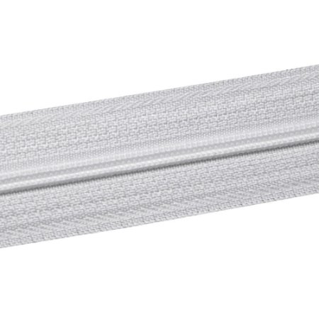 Ziper N°3 Fino - Branco / Pacote c/ 10m