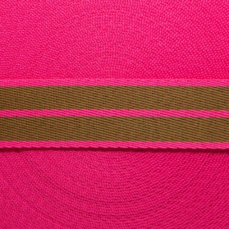 Fita Listras 40mm - Papelão/Pink