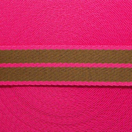 Fita Listras 30mm - Papelão/Pink