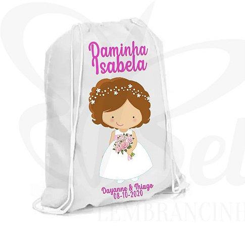 Lembrancinha para Daminha de Casamento - Mochilinha Personalizada