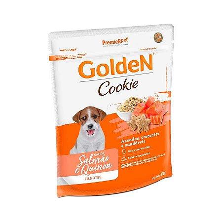 Biscoito Golden Cookie para Cães Filhotes Sabor Salmão e Quinoa 350 g