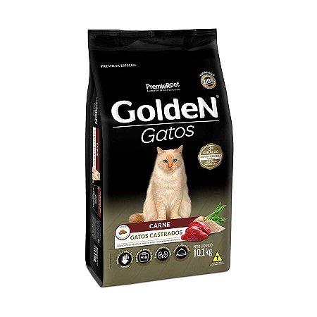 Ração Golden para Gatos Adultos Castrados Sabor Carne 10,1kg