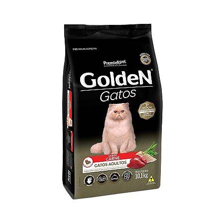 Ração Golden para Gatos Adultos Sabor Carne 10,1kg