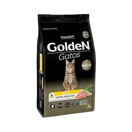 Ração Golden para Gatos Adultos Sabor Frango 10.1KG