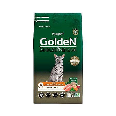 Ração Golden Seleção Natural para Gatos Adultos Sabor Frango 3kg