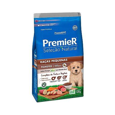 Ração Seleção Natural Premier para Cães Filhotes Raças Pequenas sabor Frango com Batata Doce 1 kg