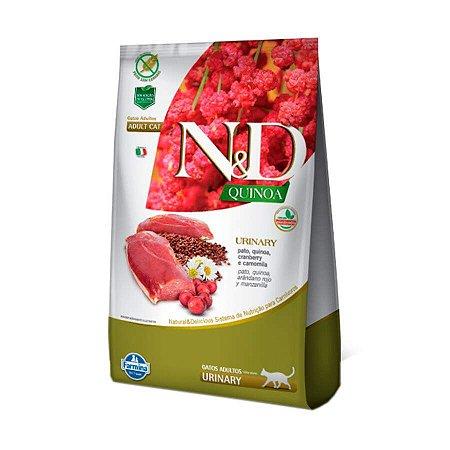 Ração Quinoa Urinary N&D para Gatos Adultos sabor Pato 1,5kg