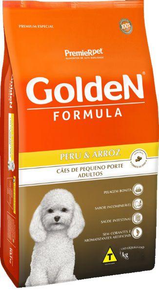 Ração Fórmula Golden Para Cães Adultos De Porte Pequeno Sabor Peru E Arroz 1 Kg