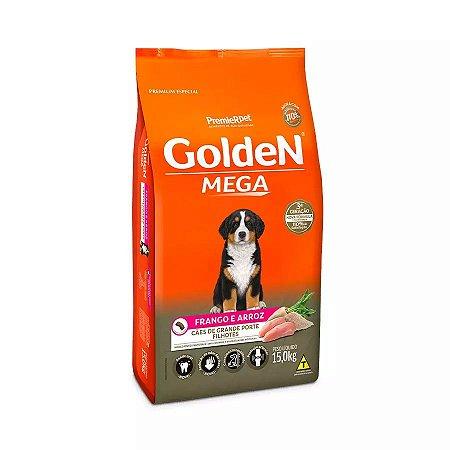 Ração Golden Cães Filhotes Raças Grandes Sabor Frango e Arroz 15kg