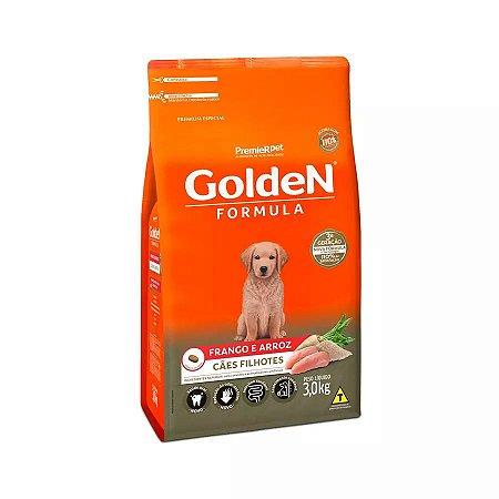 Ração Golden Filhote Sabor Frango e Arroz para Cães 3kg