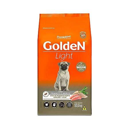 Ração Golden Fórmula Mini Bits Light para Cães Adultos de Pequeno Porte Sabor Frango e Arroz 10,1kg