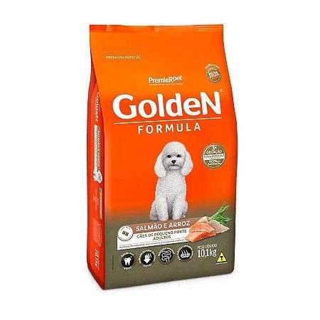Ração Golden Fórmula Mini Bits para Cães Adultos de Pequeno Porte Sabor Salmão e Arroz 10,1kg