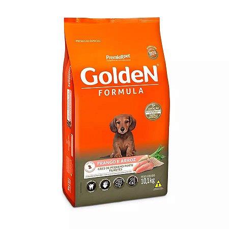 Ração Golden Fórmula Mini Bits para Cães Filhotes de Pequeno Porte Sabor Frango e Arroz 10,1kg