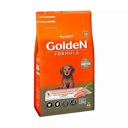 Ração Golden Fórmula Mini Bits para Cães Filhotes de Pequeno Porte Sabor Frango e Arroz 3kg