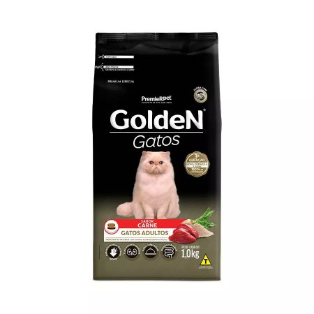 Ração Golden para Gatos Adultos Sabor Carne 1kg