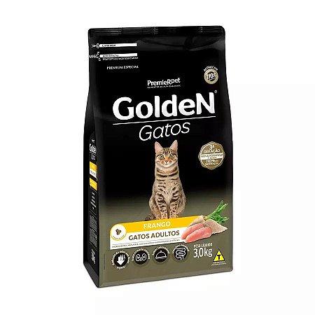 Ração Golden para Gatos Adultos Sabor Frango 3kg
