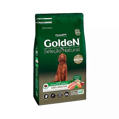 Ração Golden Seleção Natural para Cães Adultos Sabor Frango 3kg