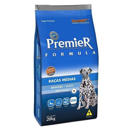 Ração Premier Fórmula Para Cães Adultos De Raças Médias Sabor Frango 20kg