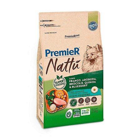 Ração Premier Nattu Para Cães Adultos De Raças Pequenas Sabor Abóbora 1,0 Kg