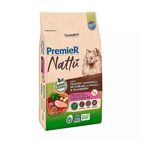 Ração Premier Nattu para Cães Adultos de Raças Pequenas Sabor Mandioca 10kg