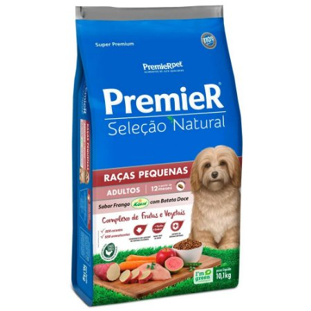Ração Premier Seleção Natural para Cães Raças Pequenas Frango com Batata Doce 10kg